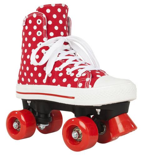 Kolieskové korčule ROOKIE CANVAS HIGH RED Polka Dots roz. 34