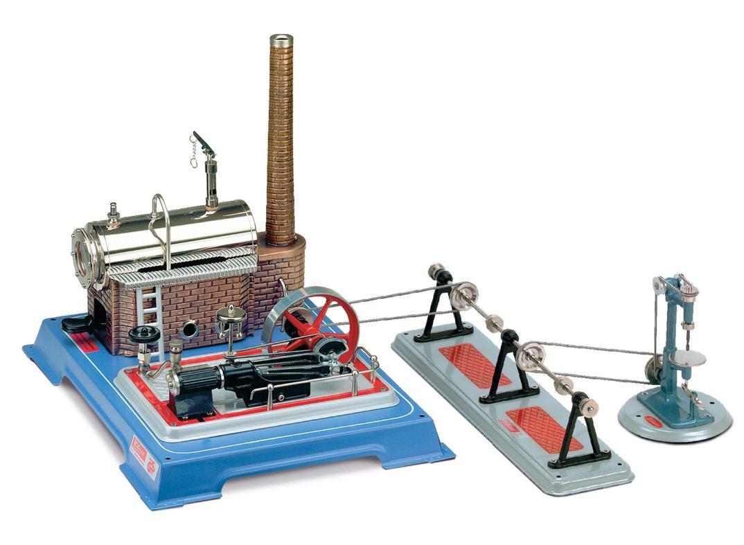 Wilesco D165 - D16 Parný stroj s príslušenstvom