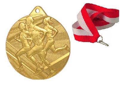 Zlatá medaila beží beží 50mm + stuha a tlač