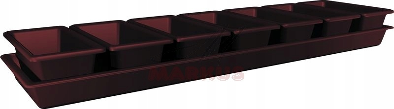 Minigarden Box Kuweta 80x20,5 H5,5 + 7 Box