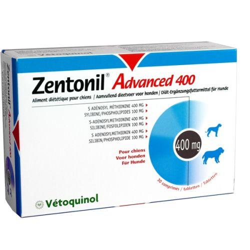 Vetoquinol Zentonil Advanced 400 mg 30 tabletek