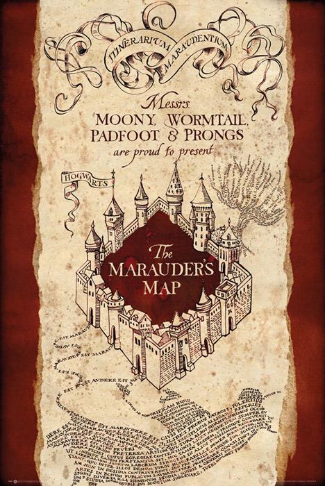 Harry Potter Mapa Huncwotów - plagát 61x91,5 cm