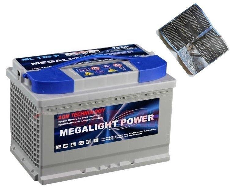 Thermotrousers MEGAlight batérie AGM 65 Ah GÉL Motor El.