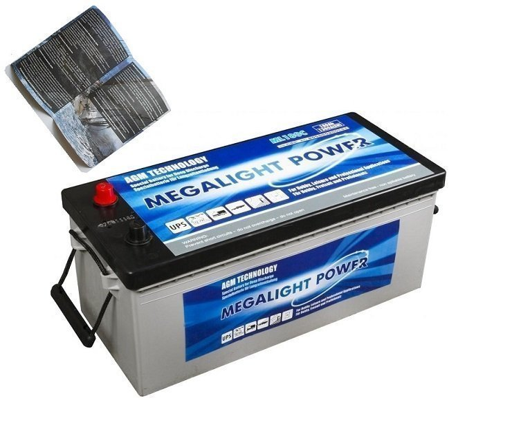 Thermotrousers MEGAlight AGM batérie 180 Ah PRE VÁŠ ČLN