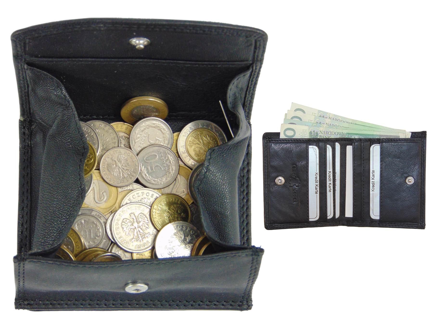 d74db726d6ae8 Skórzany portfel męski pudełkowa kieszeń na monety 7010729851 - Allegro.pl