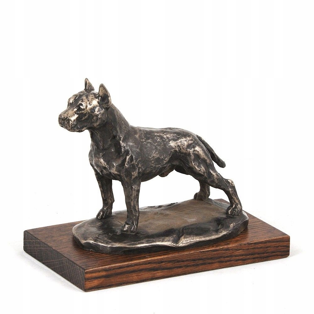 figurki ogrodowe psy amstaff lampy