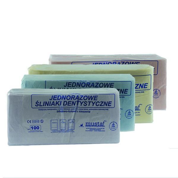 Стоматологические нагрудники с карманом MUSTAF pom
