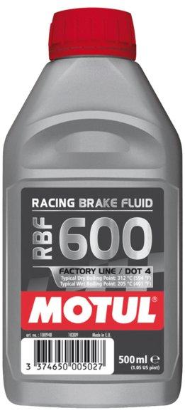 Тормозная жидкость Motul RBF 600 DOT 4 0,5 Л