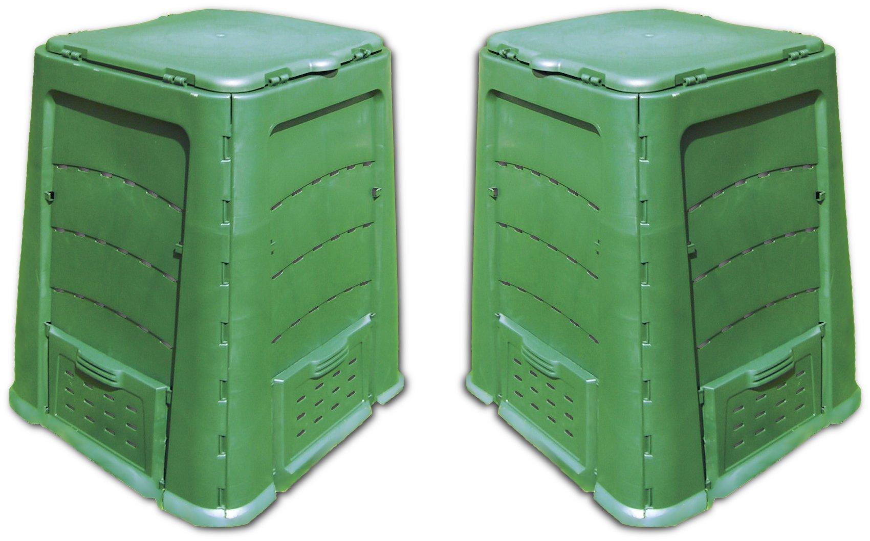 Wyper Kit 1200L = 2x600L Composter. Celoročne