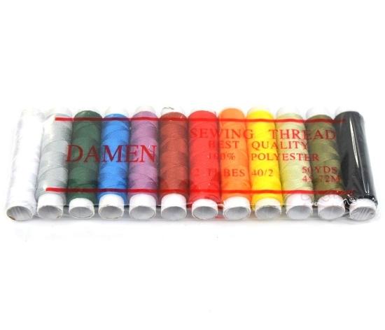 Набор цветных ниток для швейной машины 12 шт.