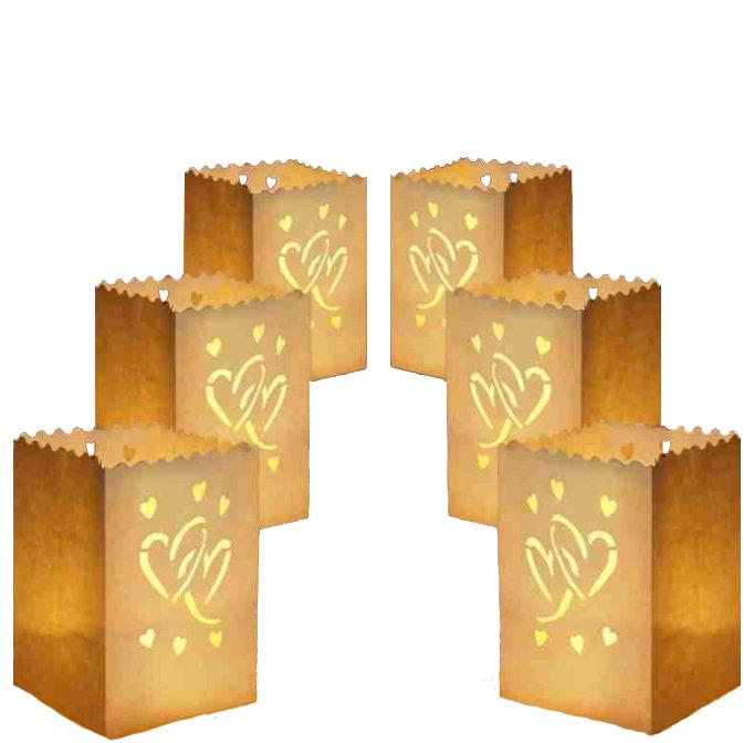 Lucern šťastie stojace dekorácie svadobné srdce 16cm