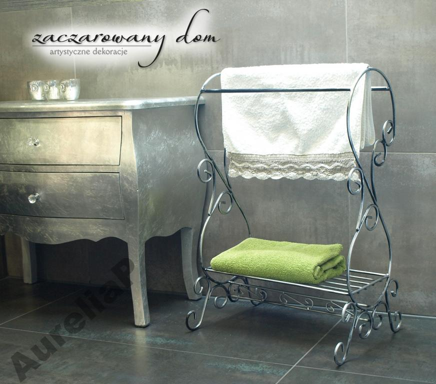 Nábytok stojan na uterák RETRO kúpeľňa !! zázrak