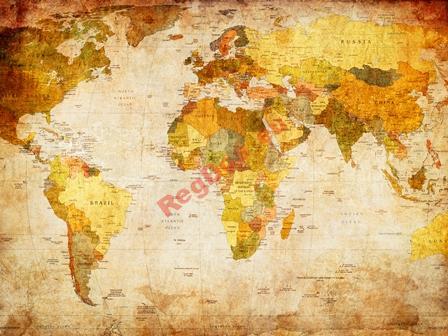 Foto Tapety na Mape Sveta VINTAGE 400x280cm MAPA sveta