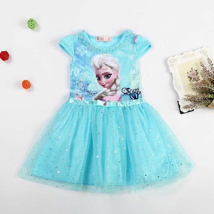 Sukienka Elsa Elza Kraina Lodu niebieska 3T PL 24H