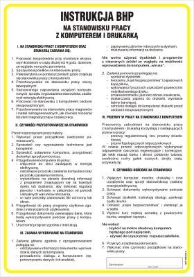 Zdravotné a bezpečnostné pokyny pre prácu s počítačom a tlačiarňou