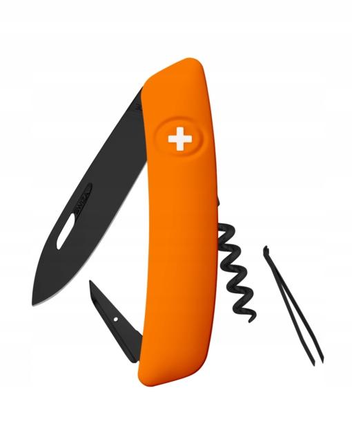 Vreckový nôž Švajčiarskej SWIZA D01 Allblack Orange 95