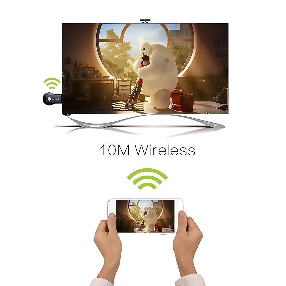 AnyCast MiraScreen DLNA wi-fi к ТВ по HDMI AirPlay