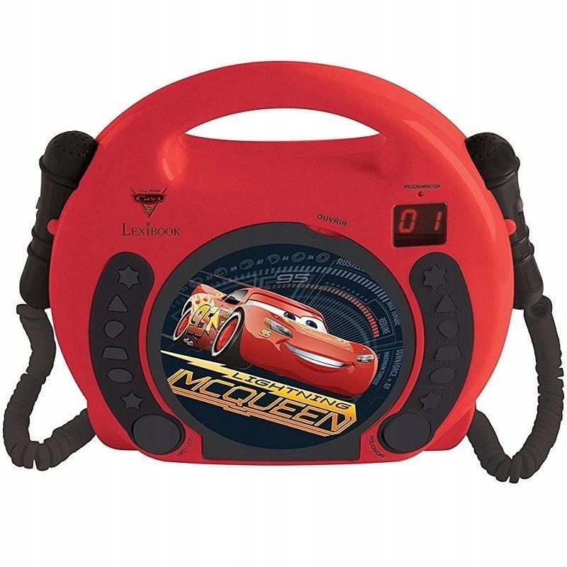 CARS Karaoke CD prehrávač Mikrofón Autá Cikcak