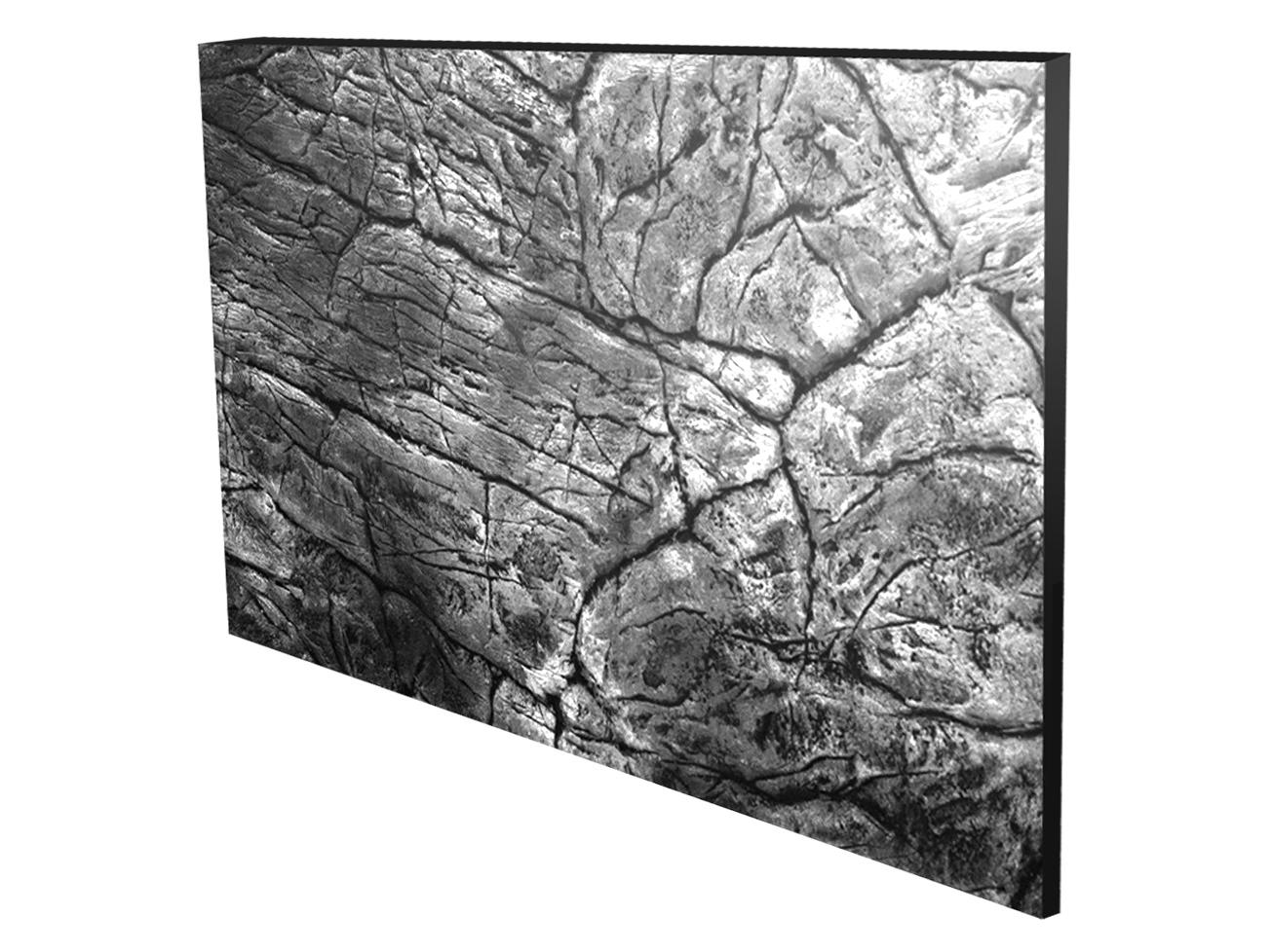 ŠTRUKTURÁLNE POZADIE pre akvárium ploché sivá 80x40