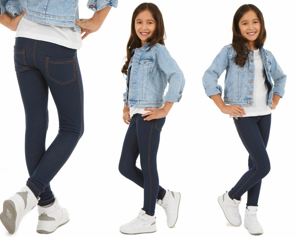 Утепленные классические леггинсы джинсовые леггинсы - 158