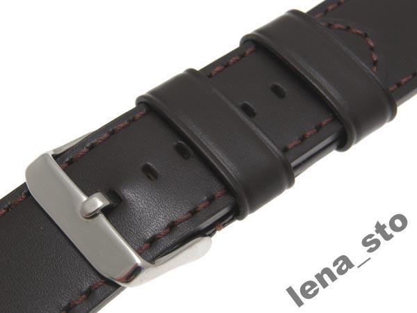 Dlhý kožený popruh pre 24mm hodinky.