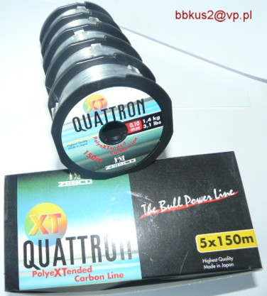 Zebco Quattron 150m 0,10mm Carbon Line