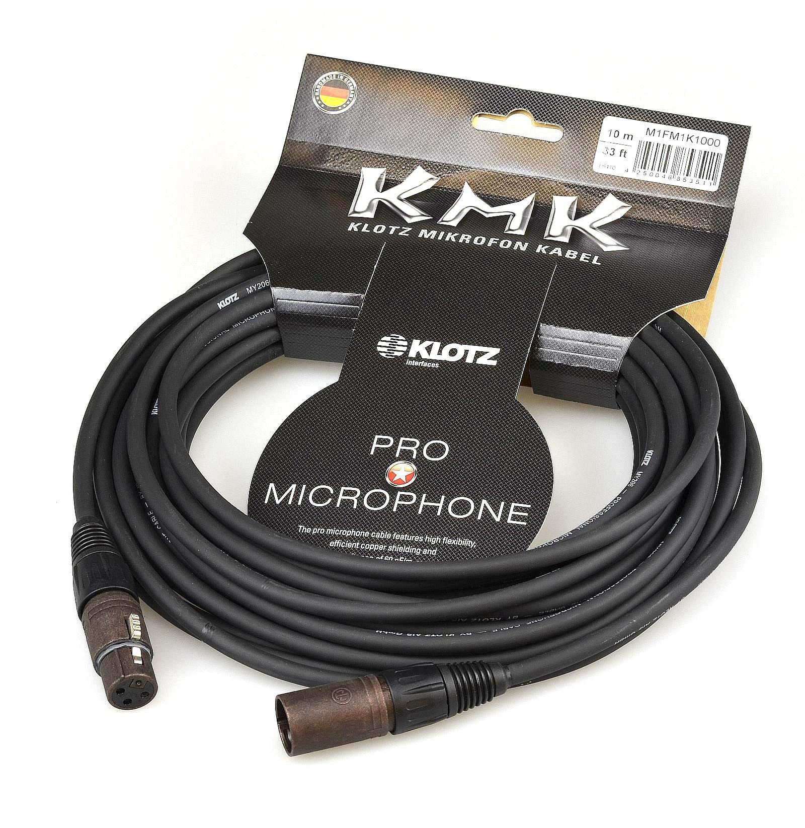 Item KLOTZ KMK microphone cable XLR NEUTRIK CANON 7.5 m