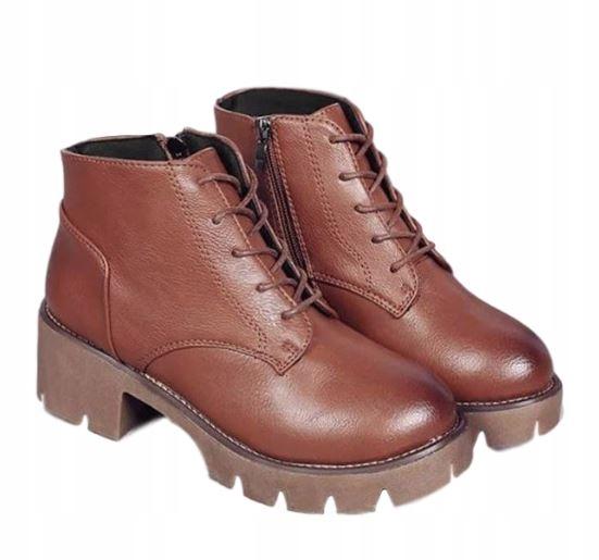 Retro vyvýšené topánky, módne čiernohnedé 37