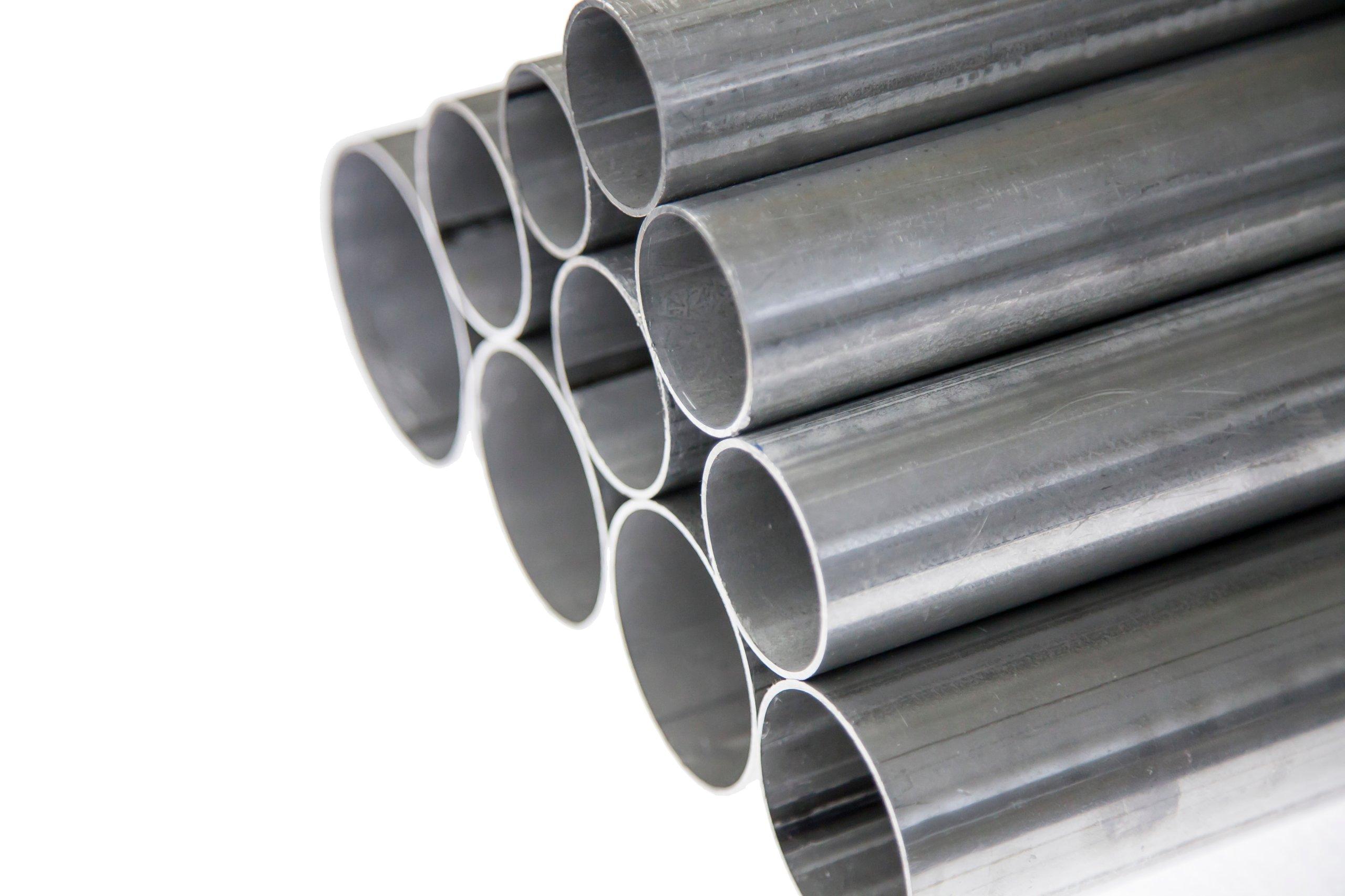 Алюминиевая труба прямой выхлоп 60 мм х 1 погонный метр