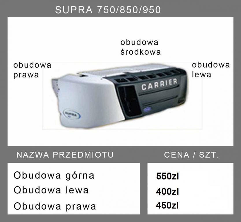 osłona obudowa carrier supra 750/850/950