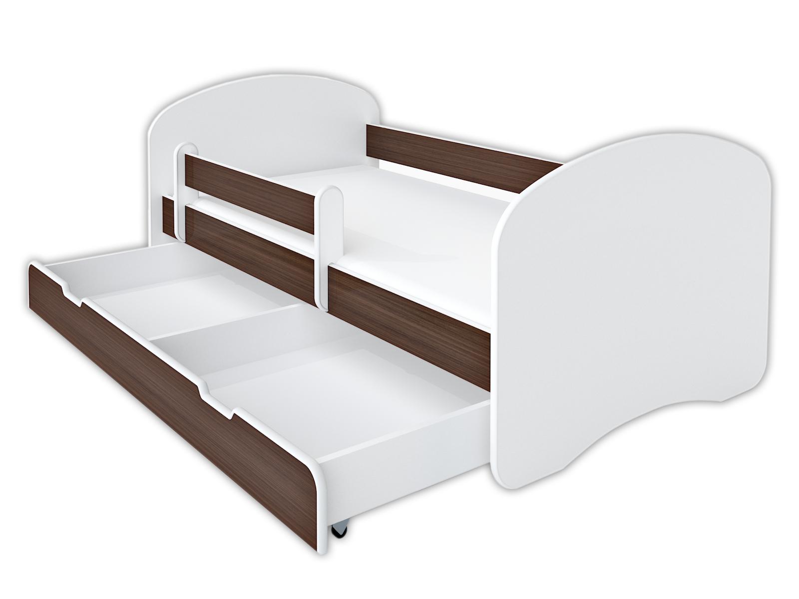 Купить Кроватка BellaLuni 140/70 венге, матрас, ящик на Otpravka - цены и фото - доставка из Польши и стран Европы в Украину.