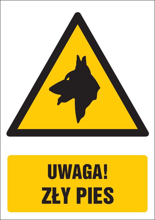 Poznámka nahnevaný pes
