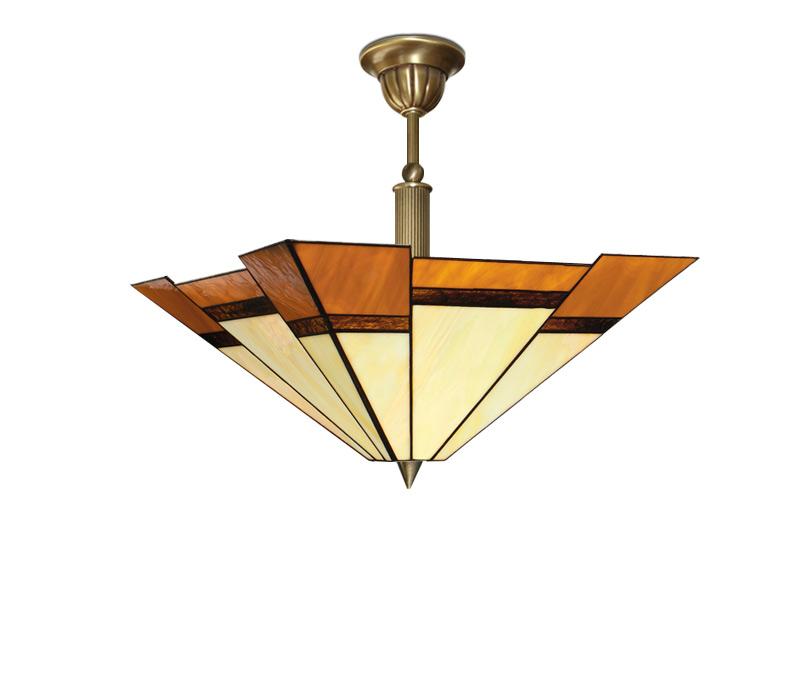 WITRAŻOWA tienidlo lampy, MOSADZ, vitráže SeriaO