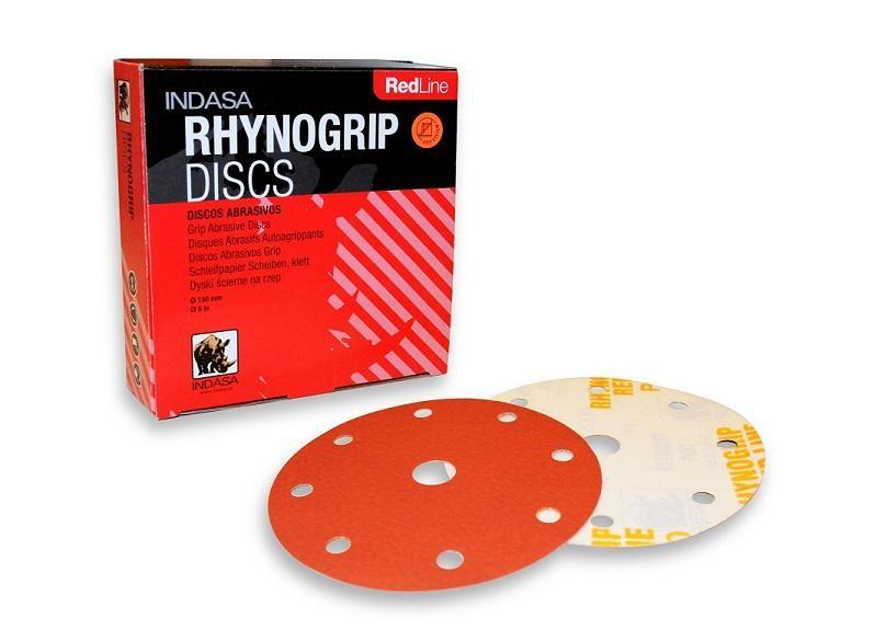 INDASA RHYNOGRIP Krążek ścierny R 8H+1 150mm P1500
