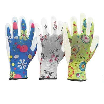Ochranné rukavice pre dámske potiahnuté 3kpl pracuje 8