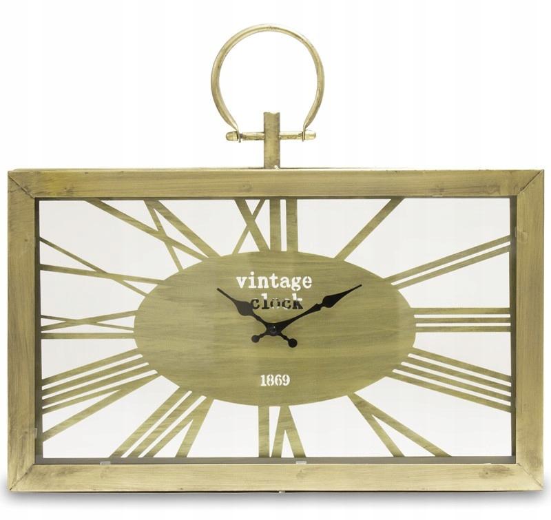 Nástenné hodiny VINTAGE Retro ZLATO kov