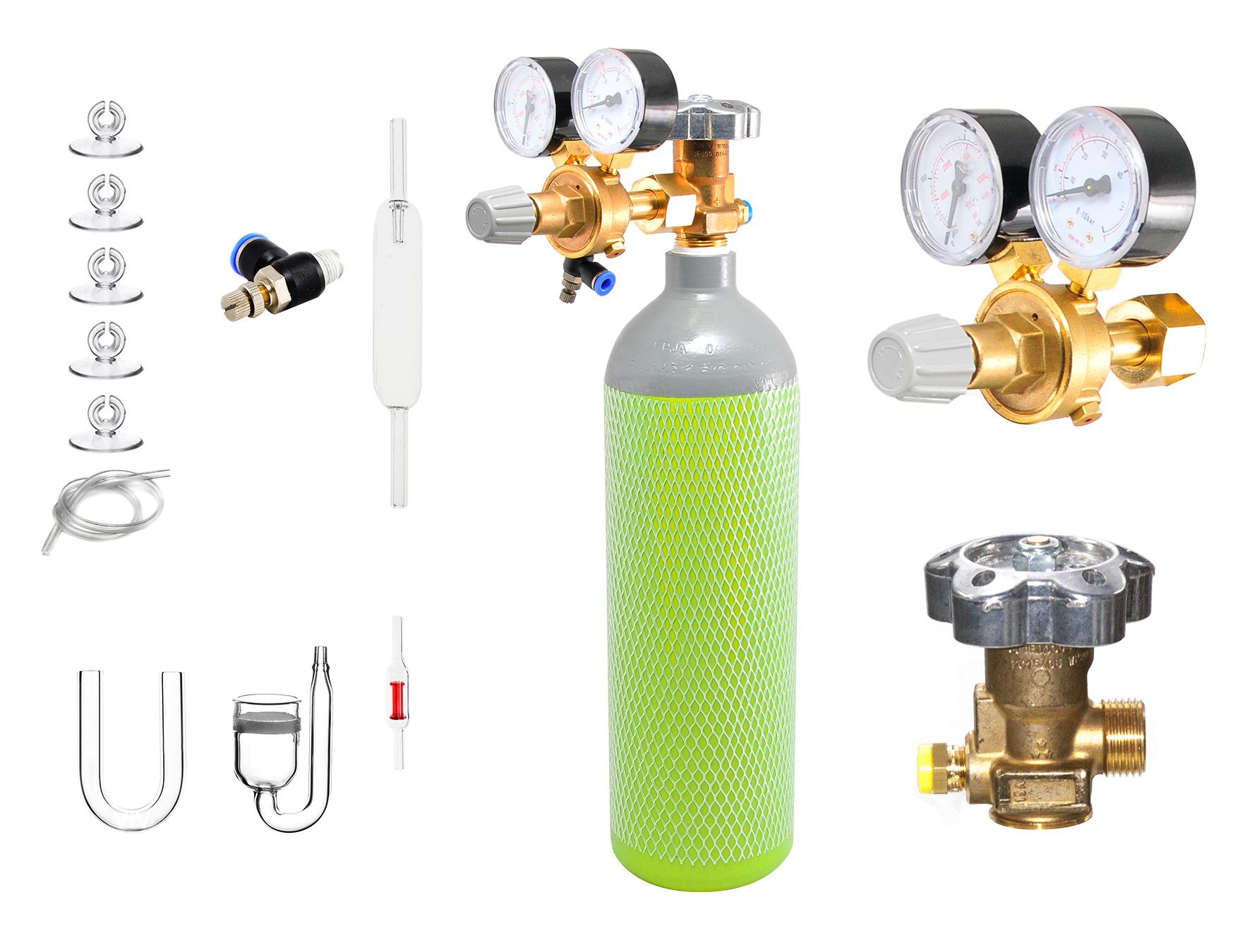 АКВА-постельных принадлежностей большим плантатор МИНИ-набор CO2 с резервуаром 1,5 кг/2,1 л