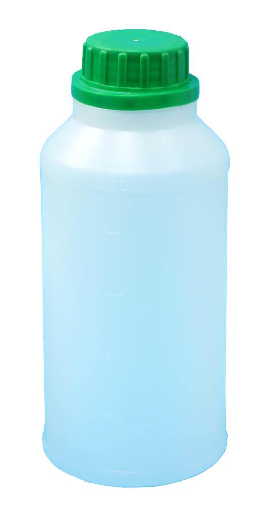 HDPE 500ml plastové fľaše + čiapky _ 100 ks