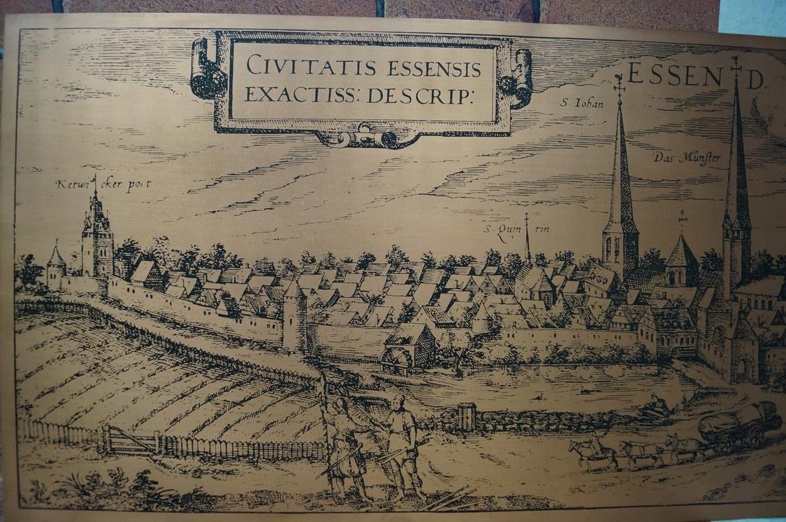 Obrázok medenej krajiny Essen pre nálepky 92x44