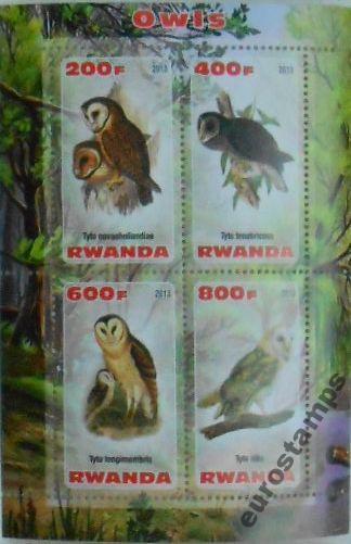 Купить SOWY sowa ptaki drapieżne Rwanda ark. (**) #E058 на Otpravka - цены и фото - доставка из Польши и стран Европы в Украину.