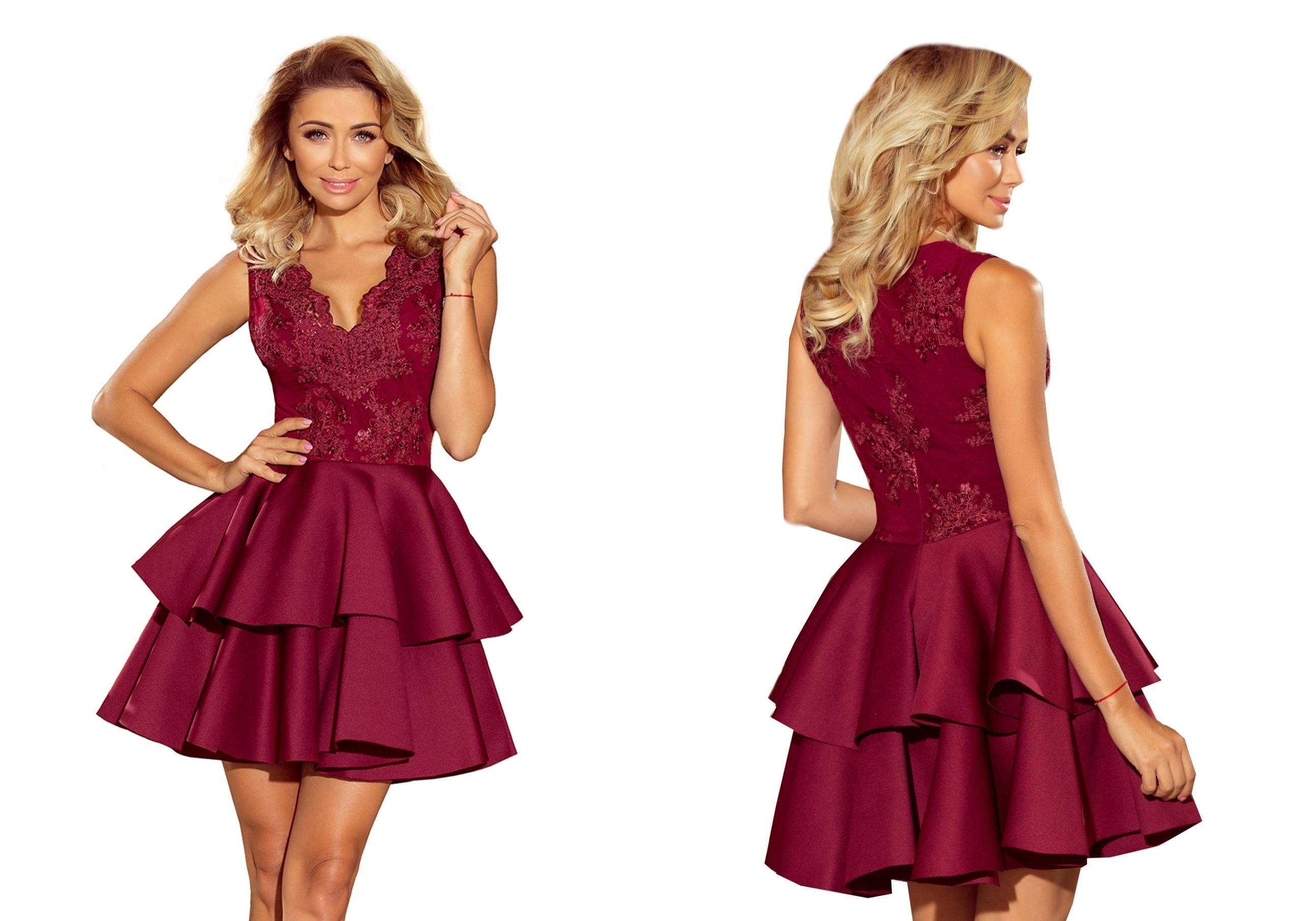 2aa35156 EKSKLUZYWNA Sukienka NA SYLWESTRA, BAL 207-1 XS