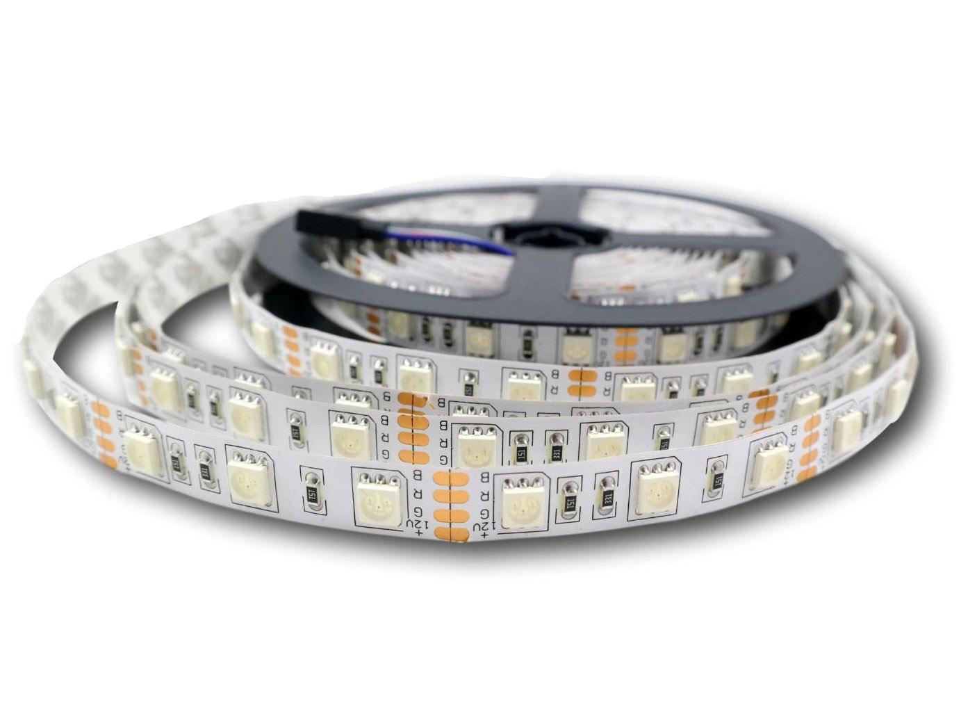 LED 5050 300 LED RGB Plná farba a biela 0,5 m