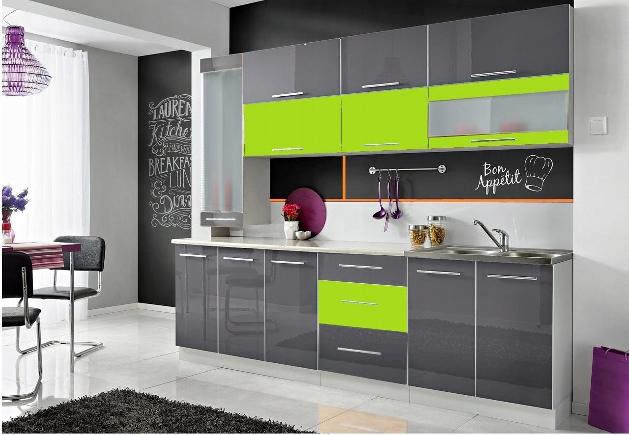 Meble kuchenne Monika S  wysoki połysk 10 kolorów