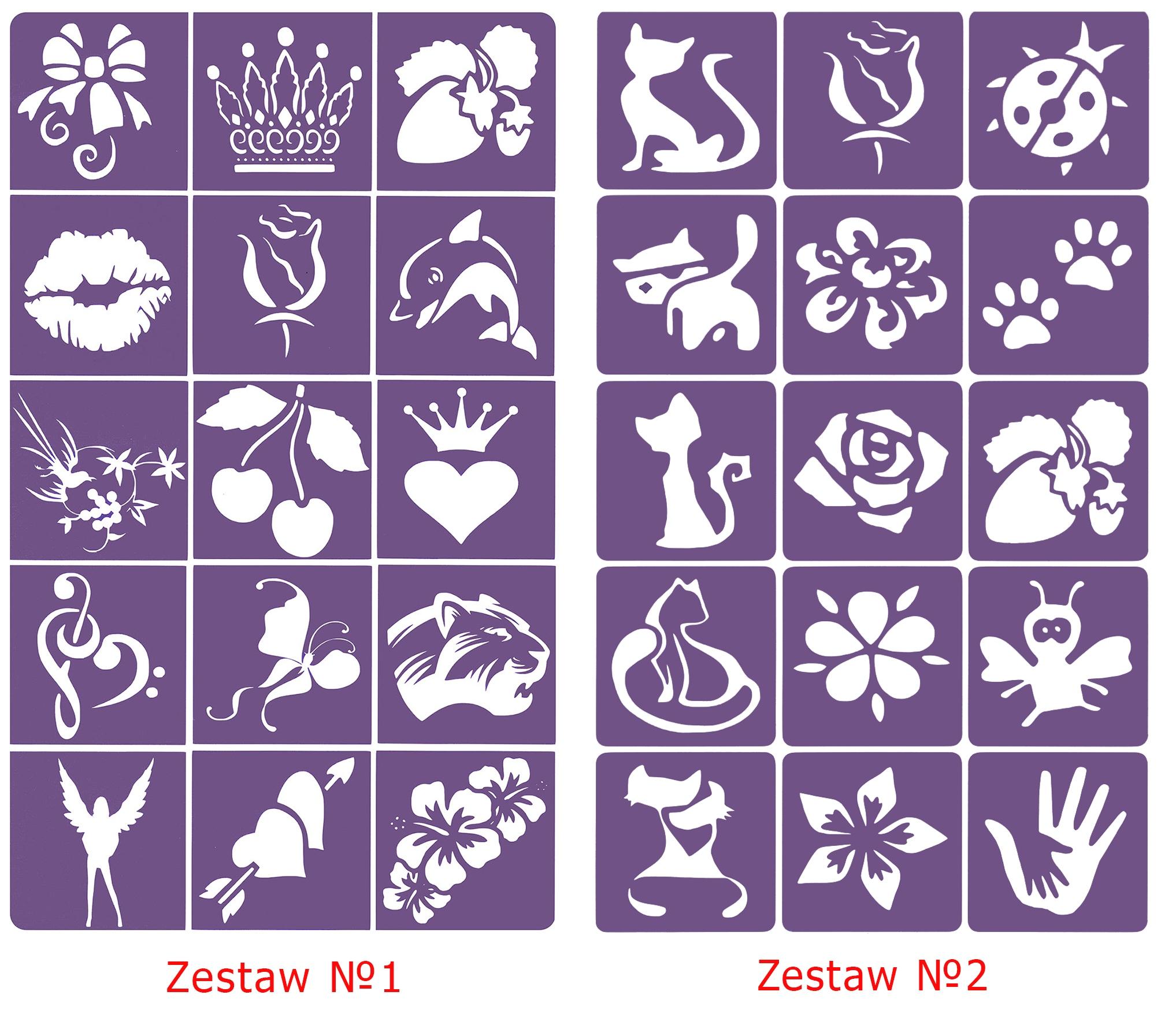 Szablony Do Tatuazy Z Brokatu Henna No 10 7848291465 Allegro Pl
