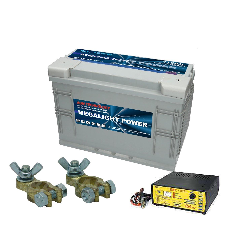 Thermotrousers MEGAlight batérie AGM 115Ah STARTER KIT