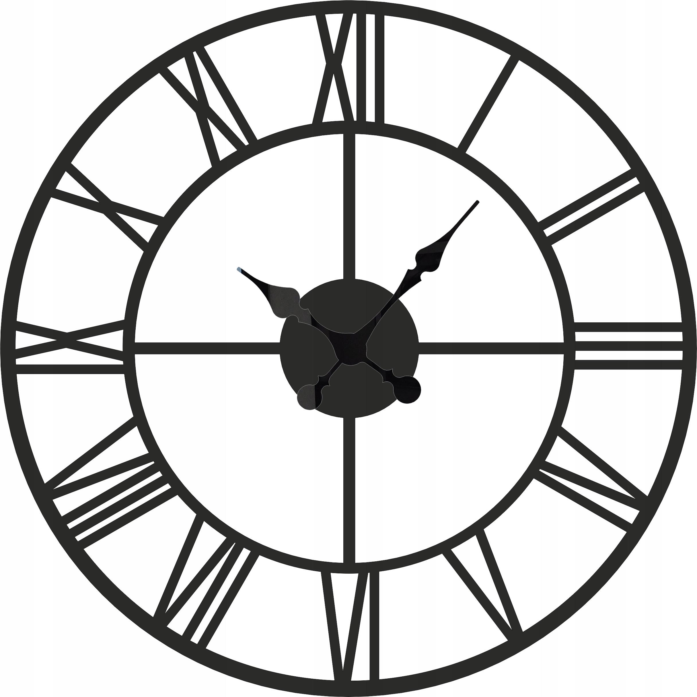 большой римский настенные часы Винтаж тихий 60 см W23