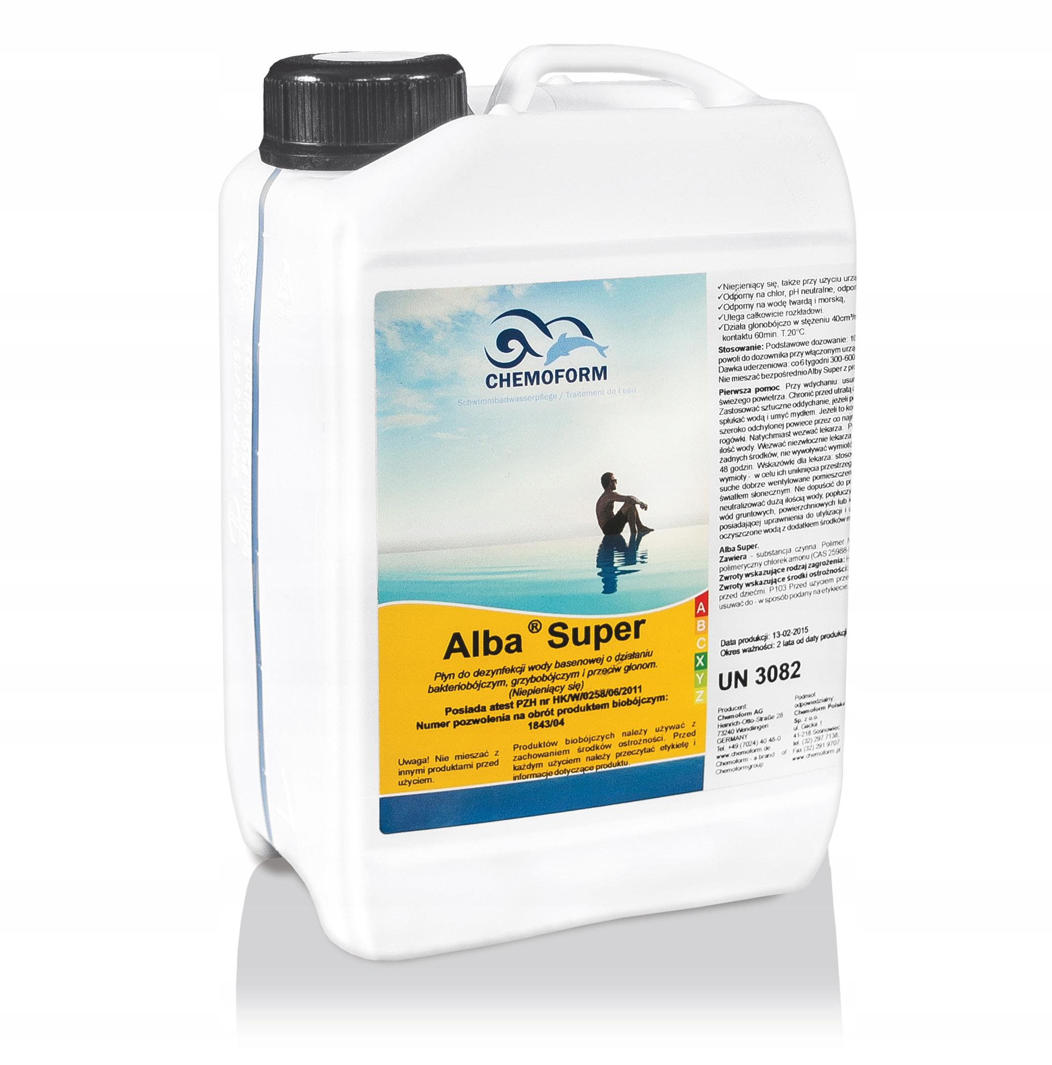 Antyglon Chemia Do Basenow Alba Super Chemoform 3l 7155865734 Allegro Pl