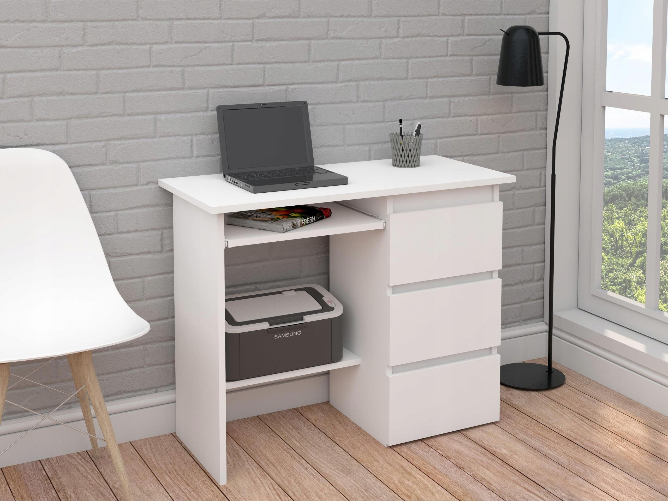 белый компьютерный стол фото количество