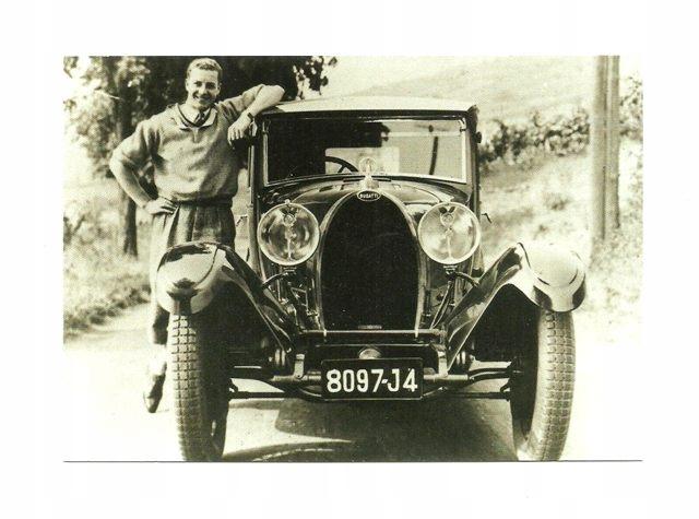 Pocztówka - Stare samochody - Bugatti Type 44 ...