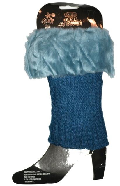 Tepláre Získanie obuvi modrá kožušina predaj